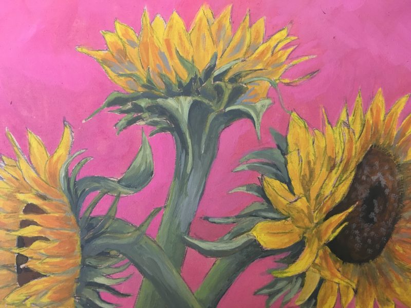 Sunflowers – Gouache on MDF