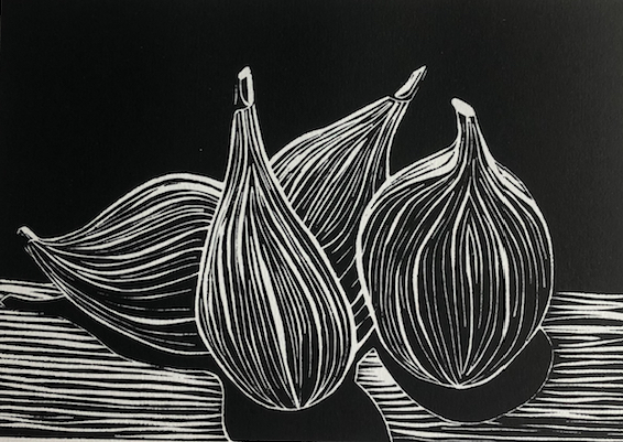 Figs lino print