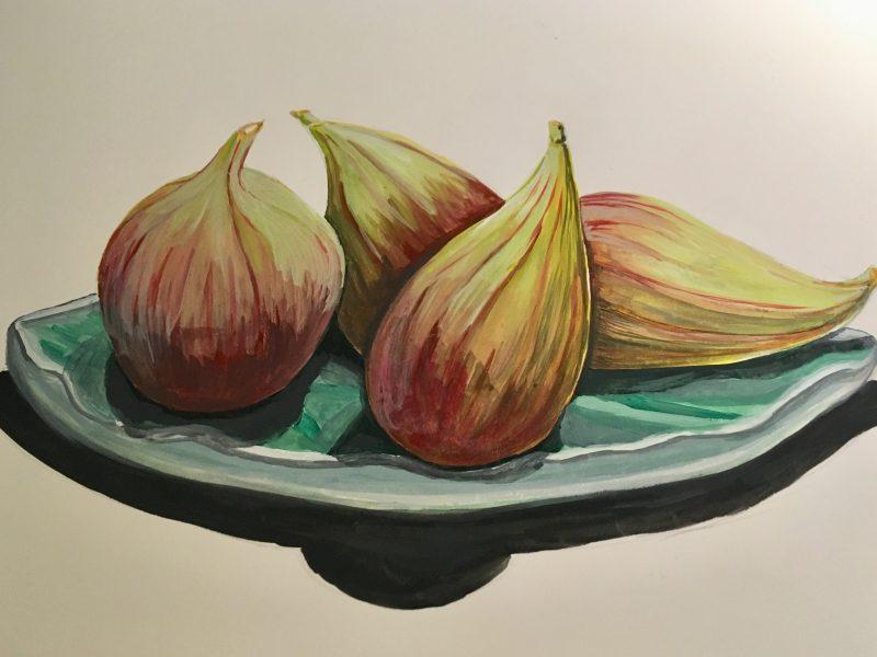 Figs gouache