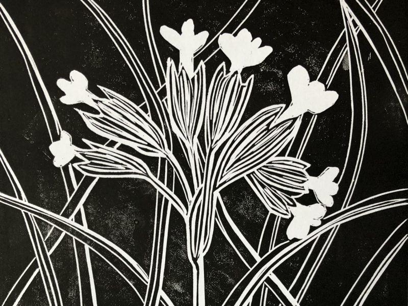 Cowslips Lino Print