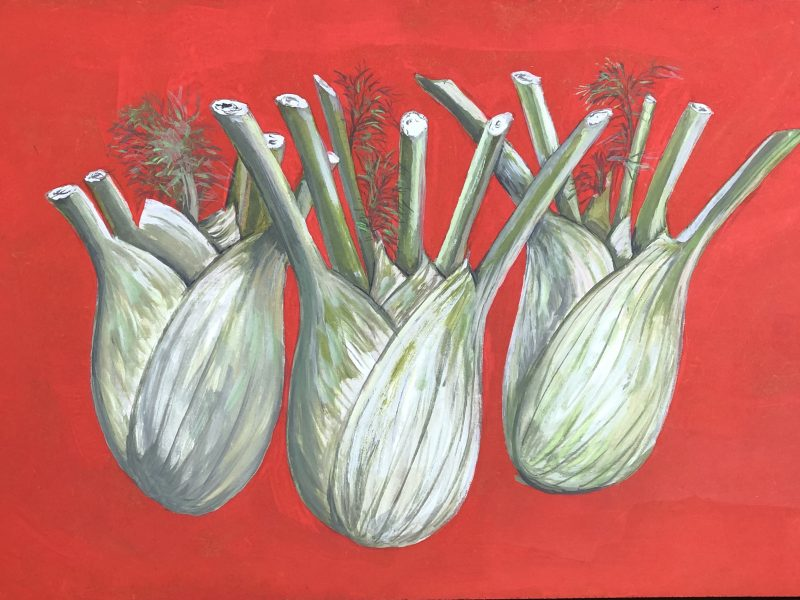 Three Fennel Gouache